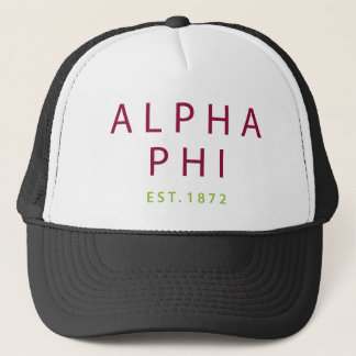 Alpha Phi | Est. 1872 2 Trucker Hat