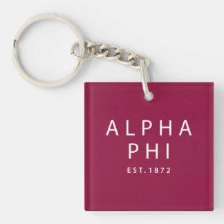 Alpha Phi | Est. 1872 Key Ring