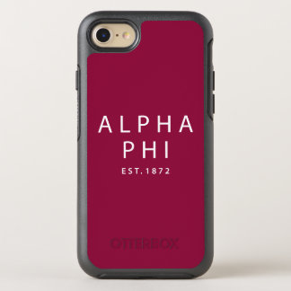 Alpha Phi | Est. 1872 OtterBox Symmetry iPhone 8/7 Case