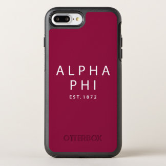 Alpha Phi | Est. 1872 OtterBox Symmetry iPhone 8 Plus/7 Plus Case