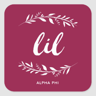 Alpha Phi | Lil Wreath Square Sticker