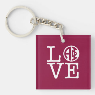 Alpha Phi | Love Key Ring