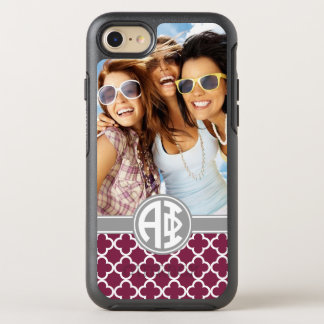 Alpha Phi | Monogram and Photo OtterBox Symmetry iPhone 8/7 Case