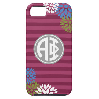 Alpha Phi | Monogram Stripe Pattern iPhone 5 Case