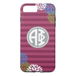 Alpha Phi   Monogram Stripe Pattern iPhone 8 Plus/7 Plus Case