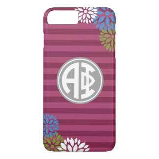 Alpha Phi | Monogram Stripe Pattern iPhone 8 Plus/7 Plus Case