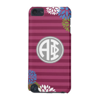 Alpha Phi | Monogram Stripe Pattern iPod Touch 5G Covers