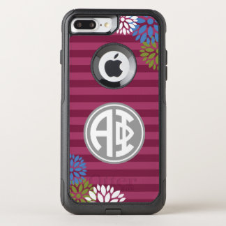 Alpha Phi | Monogram Stripe Pattern OtterBox Commuter iPhone 8 Plus/7 Plus Case
