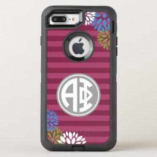Alpha Phi | Monogram Stripe Pattern OtterBox Defender iPhone 7 Plus Case