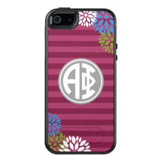 Alpha Phi | Monogram Stripe Pattern OtterBox iPhone 5/5s/SE Case