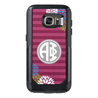 Alpha Phi | Monogram Stripe Pattern OtterBox Samsung Galaxy S7 Case