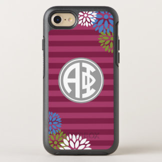 Alpha Phi | Monogram Stripe Pattern OtterBox Symmetry iPhone 8/7 Case