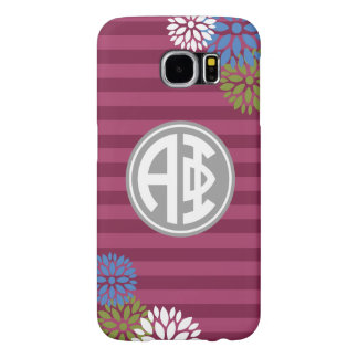 Alpha Phi | Monogram Stripe Pattern Samsung Galaxy S6 Cases