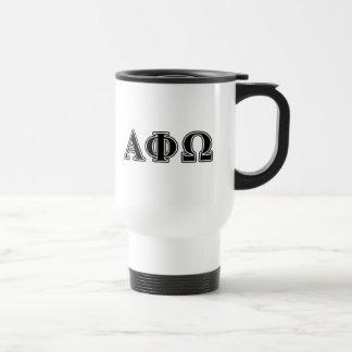 Alpha Phi Omega Black Letters Coffee Mugs