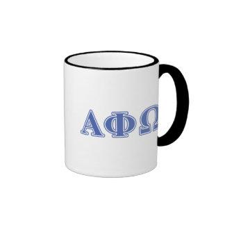 Alpha Phi Omega Blue Letters Mug