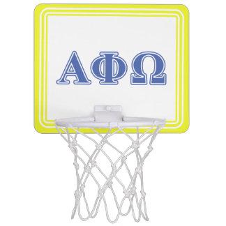 Alpha Phi Omega Blue Letters Mini Basketball Hoop