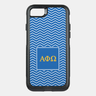 Alpha Phi Omega | Chevron Pattern OtterBox Commuter iPhone 8/7 Case