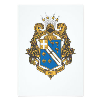 Alpha Phi Omega Color - Crest 13 Cm X 18 Cm Invitation Card