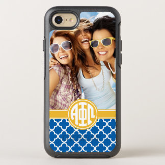 Alpha Phi Omega | Custom Monogram Pattern OtterBox Symmetry iPhone 7 Case