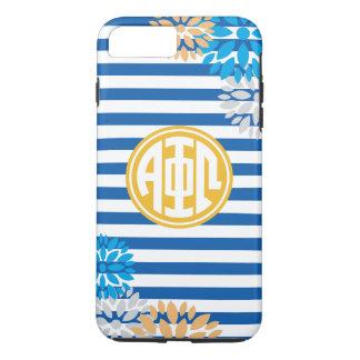 Alpha Phi Omega | Monogram Stripe Pattern iPhone 8 Plus/7 Plus Case