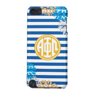 Alpha Phi Omega | Monogram Stripe Pattern iPod Touch 5G Cover
