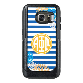 Alpha Phi Omega | Monogram Stripe Pattern OtterBox Samsung Galaxy S7 Case