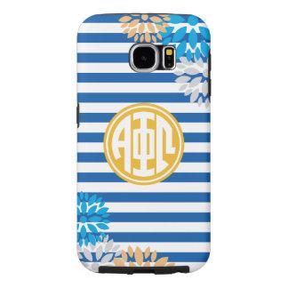 Alpha Phi Omega | Monogram Stripe Pattern Samsung Galaxy S6 Cases