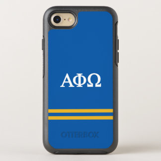 Alpha Phi Omega | Sport Stripe OtterBox Symmetry iPhone 8/7 Case