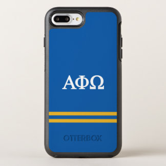 Alpha Phi Omega | Sport Stripe OtterBox Symmetry iPhone 8 Plus/7 Plus Case