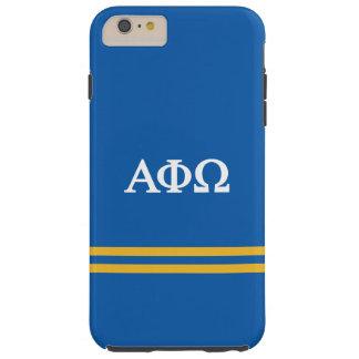 Alpha Phi Omega   Sport Stripe Tough iPhone 6 Plus Case