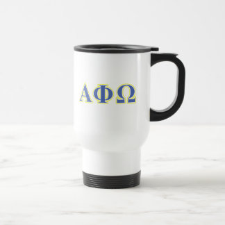 Alpha Phi Omega Yellow and Blue Letters Coffee Mug