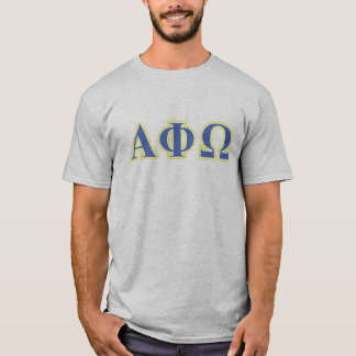 Alpha Phi Omega Yellow and Blue Letters T-Shirt