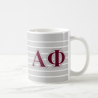 Alpha Phi Silver and Bordeaux Letters Coffee Mug