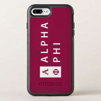 Alpha Phi | Stacked OtterBox Symmetry iPhone 8 Plus/7 Plus Case