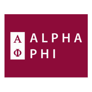 Alpha Phi | Stacked Postcard