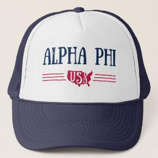 Alpha Phi USA Trucker Hat