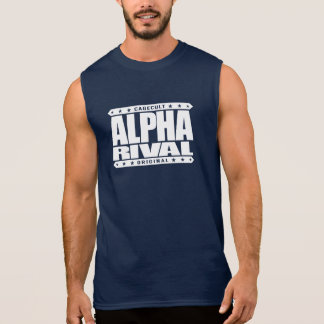 ALPHA RIVAL - I Am Your Nightmare Contender, White Sleeveless Shirt