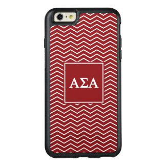 Alpha Sigma Alpha   Chevron Pattern OtterBox iPhone 6/6s Plus Case