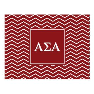 Alpha Sigma Alpha | Chevron Pattern Postcard