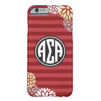 Alpha Sigma Alpha | Monogram Stripe Pattern Barely There iPhone 6 Case