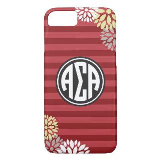 Alpha Sigma Alpha   Monogram Stripe Pattern iPhone 8/7 Case