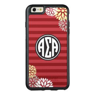Alpha Sigma Alpha | Monogram Stripe Pattern OtterBox iPhone 6/6s Plus Case