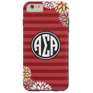 Alpha Sigma Alpha   Monogram Stripe Pattern Tough iPhone 6 Plus Case