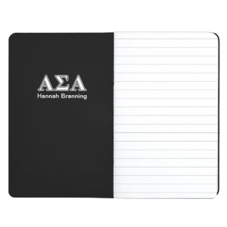 Alpha Sigma Alpha White and Black Letters Journal