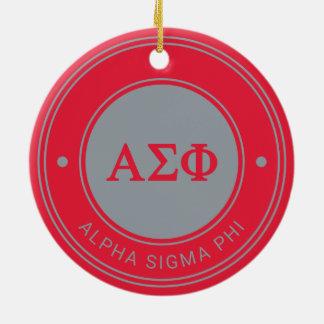 Alpha Sigma Phi | Badge Ceramic Ornament