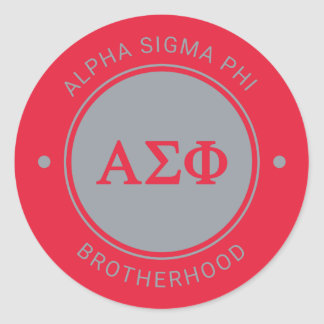 Alpha Sigma Phi | Badge Classic Round Sticker