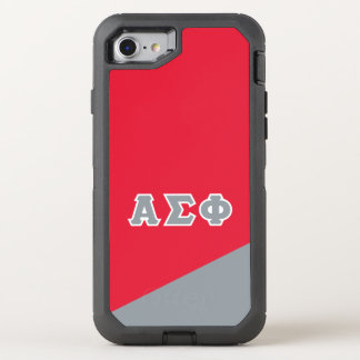 Alpha Sigma Phi | Greek Letters OtterBox Defender iPhone 8/7 Case