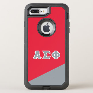 Alpha Sigma Phi | Greek Letters OtterBox Defender iPhone 8 Plus/7 Plus Case