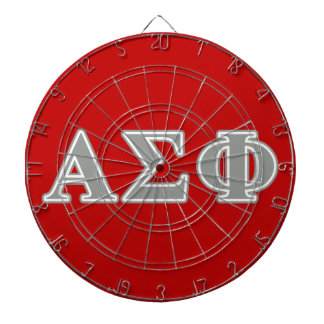 Alpha Sigma Phi Grey Letters Dartboards