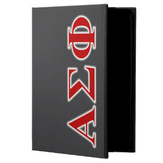 Alpha Sigma Phi Red and Grey Lettes iPad Air Covers